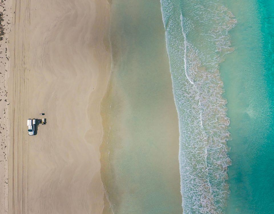 kamperen op het strand, Western Australia