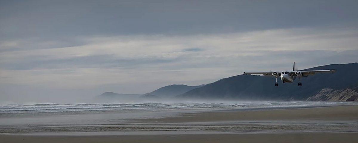 strandlanding, Mason Bay, Stewart Island